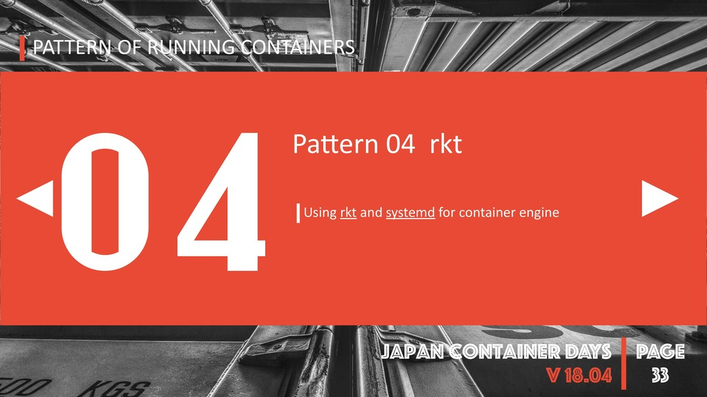 PAGE Japan Container DAYS v 18.04 33 PATTERN OF...