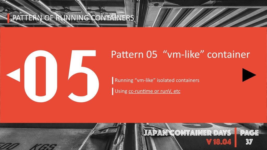PAGE Japan Container DAYS v 18.04 37 PATTERN OF...