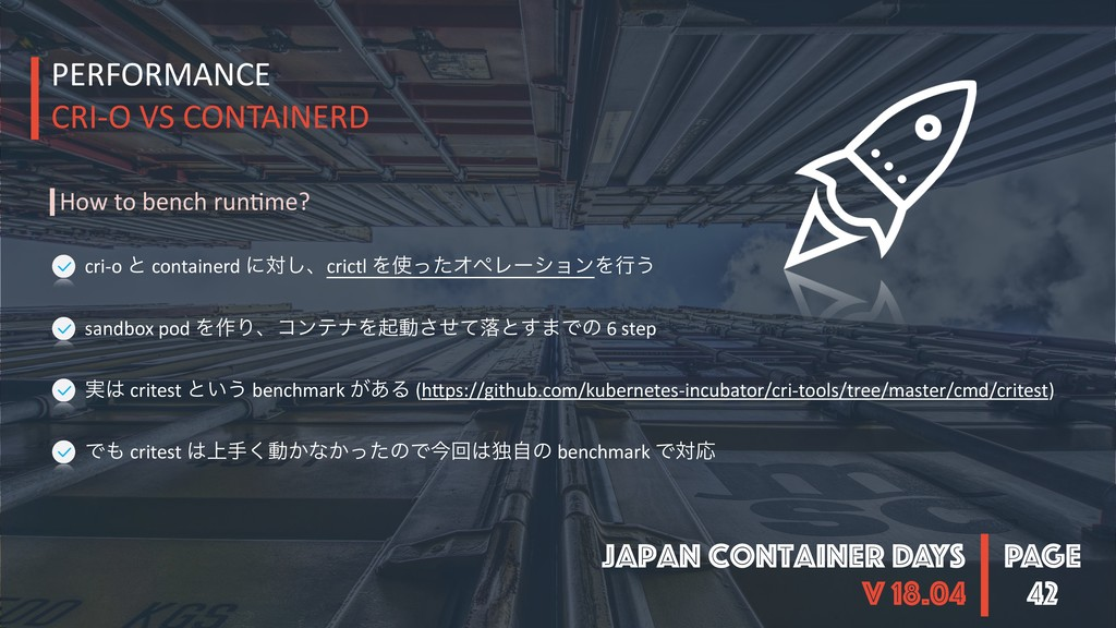 PAGE Japan Container DAYS v 18.04 42 PERFORMANC...