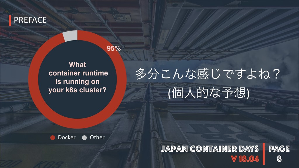 PAGE Japan Container DAYS v 18.04 8 ଟ෼͜Μͳײ͡Ͱ͢ΑͶ...