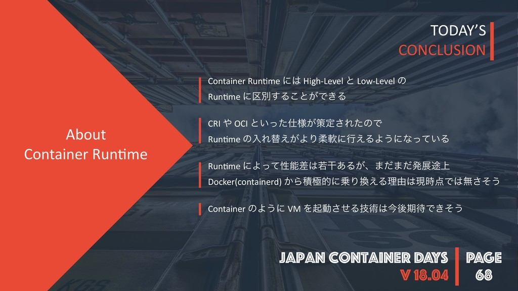 PAGE Japan Container DAYS v 18.04 68 About Cont...