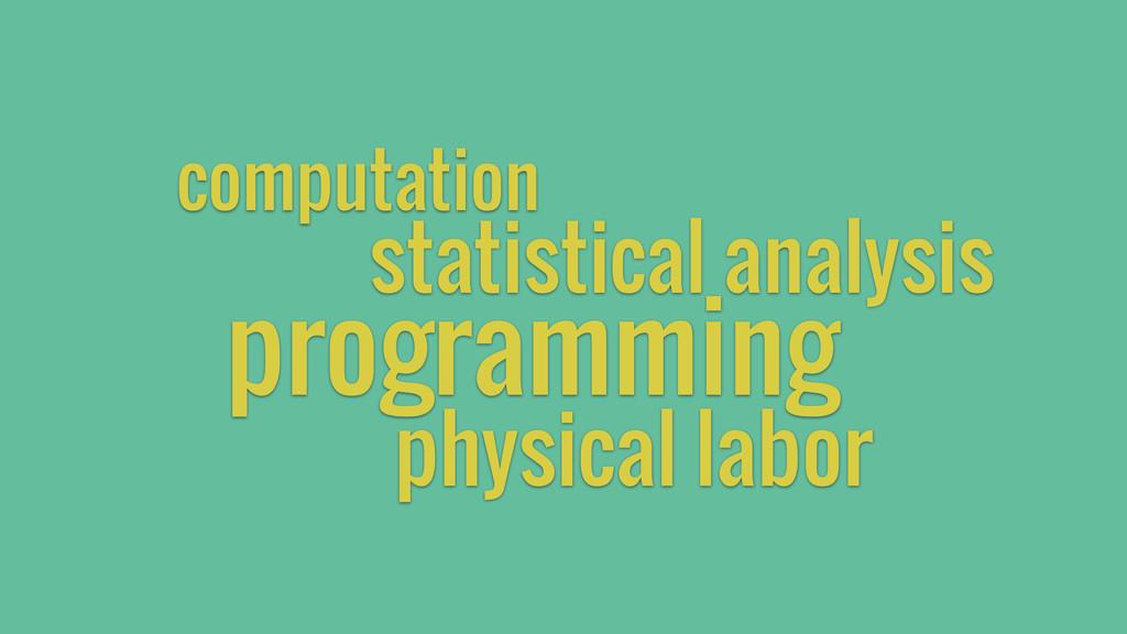 programming computation physical labor statisti...