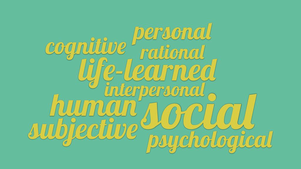 interpersonal human subjective psychological pe...