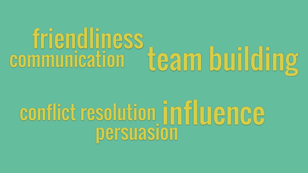 communication friendliness team building influe...