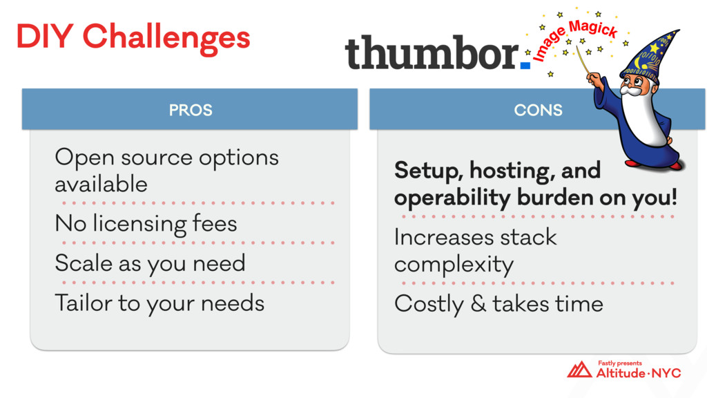 DIY Challenges PROS CONS Open source options av...