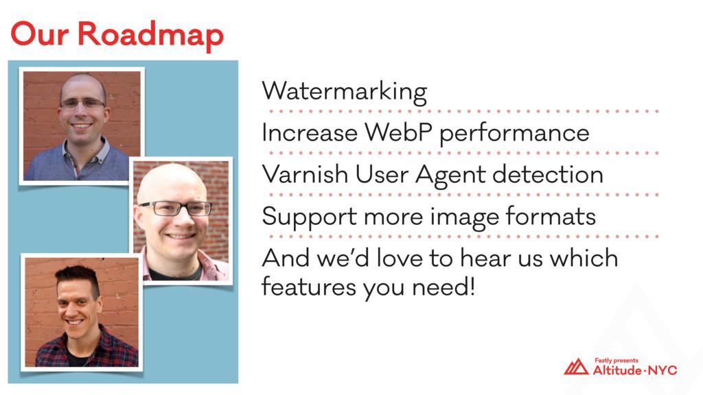 Our Roadmap Watermarking Increase WebP performa...