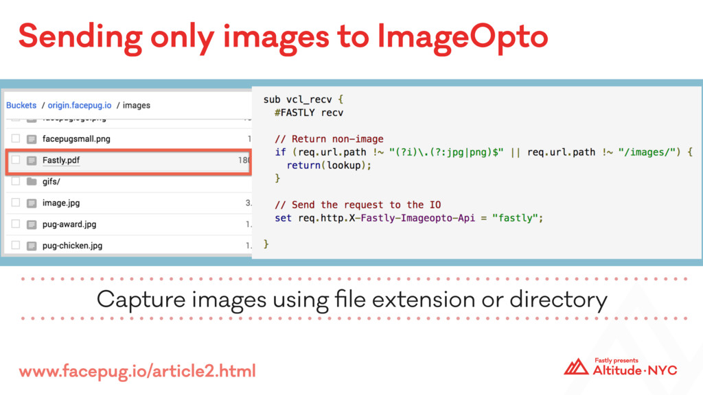 Sending only images to ImageOpto Capture images...