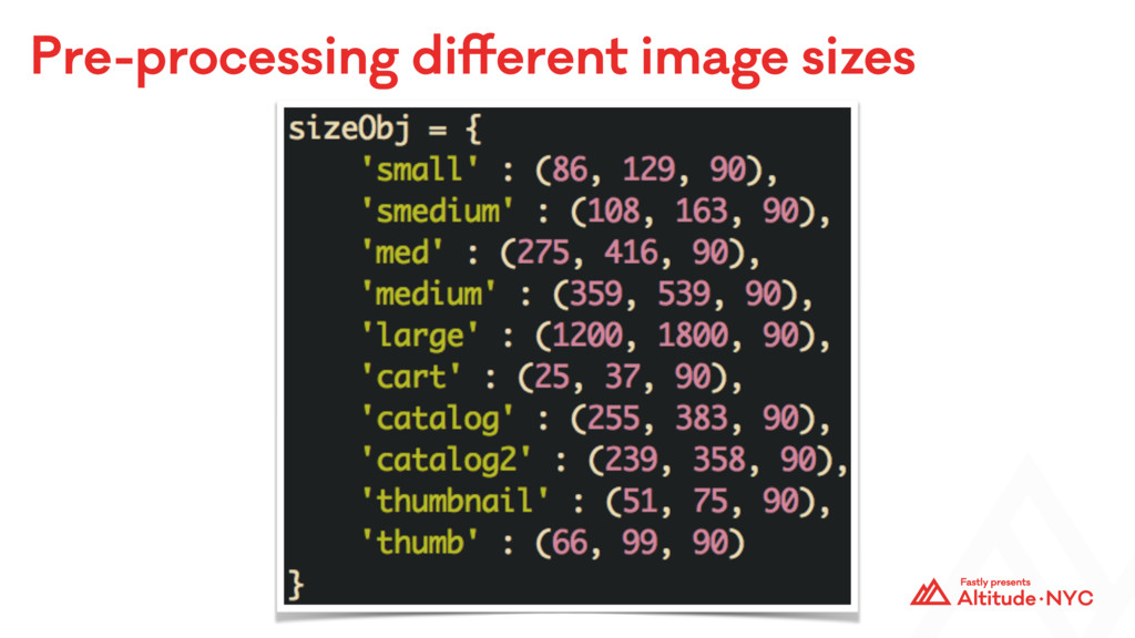 Pre-processing different image sizes
