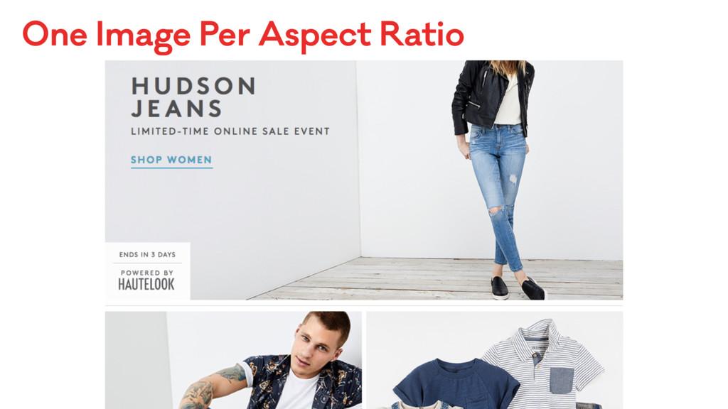One Image Per Aspect Ratio