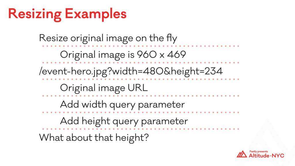 Resizing Examples Resize original image on the ...