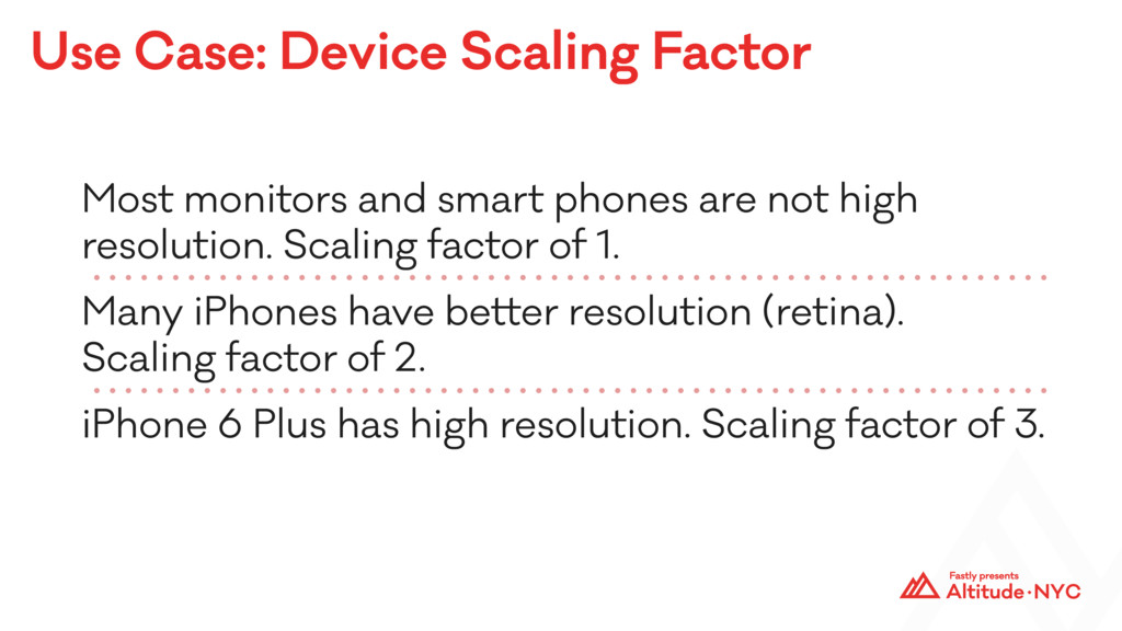Use Case: Device Scaling Factor Most monitors a...