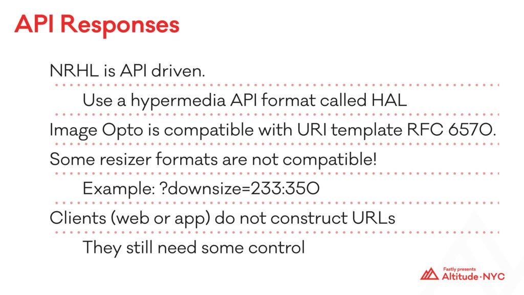 API Responses NRHL is API driven. Use a hyperme...