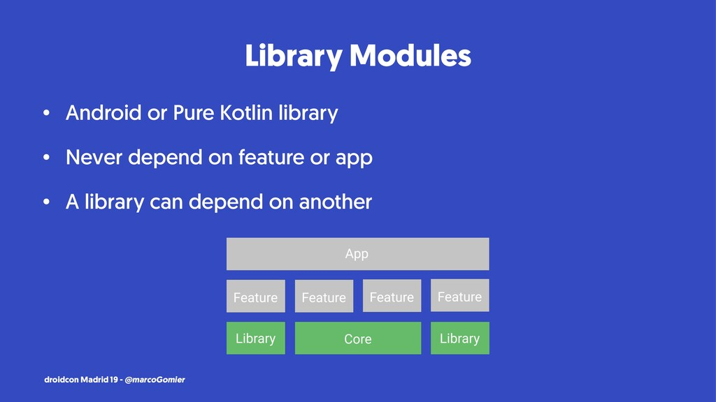 Library Modules • Android or Pure Kotlin librar...