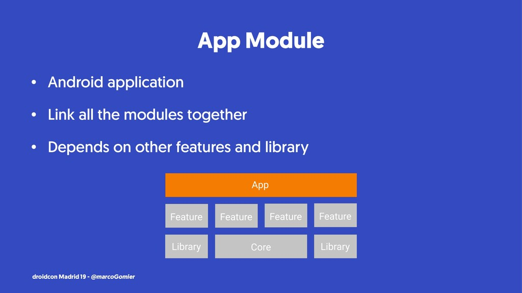 App Module • Android application • Link all the...