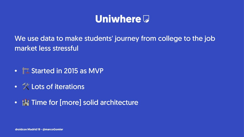 Uniwhere We use data to make students' journey ...