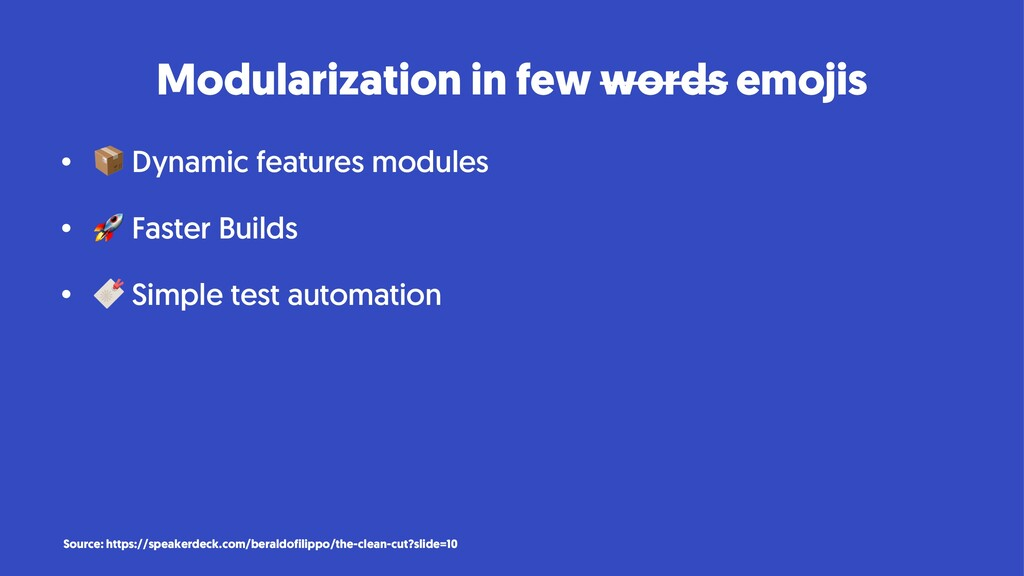 Modularization in few words emojis • ! Dynamic ...