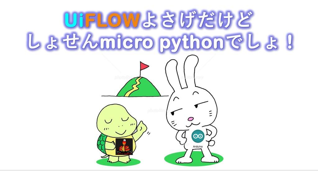 UiFLOWよさげだけど しょせんmicro pythonでしょ !