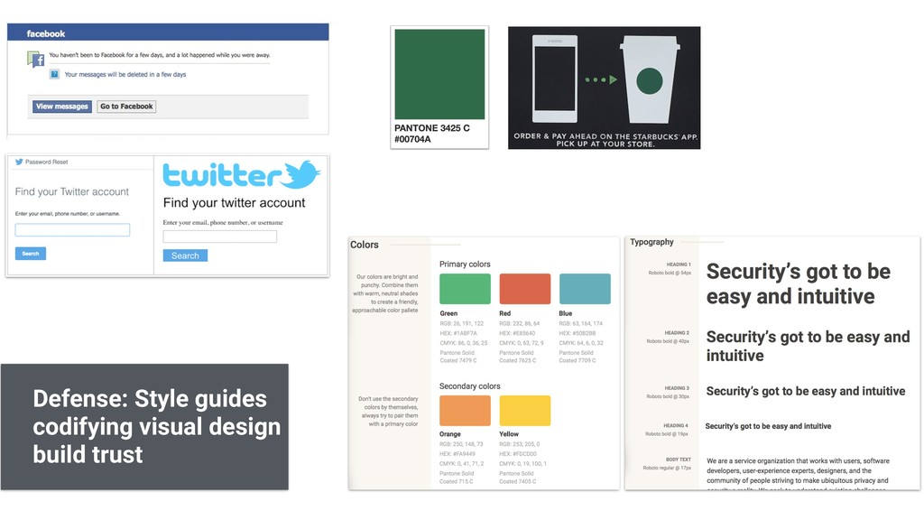 Defense: Style guides codifying visual design b...