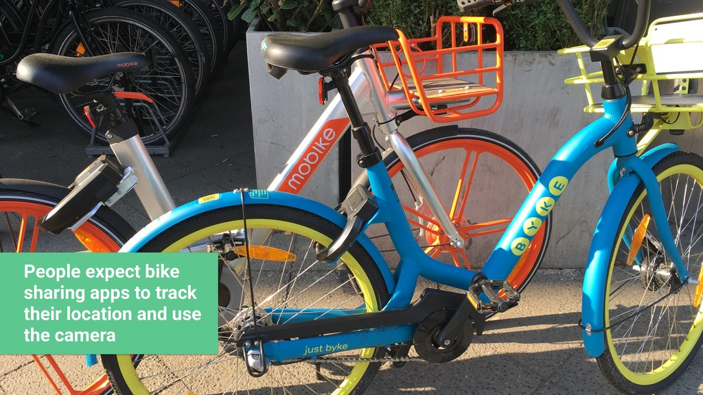 People expect bike sharing apps to track their ...