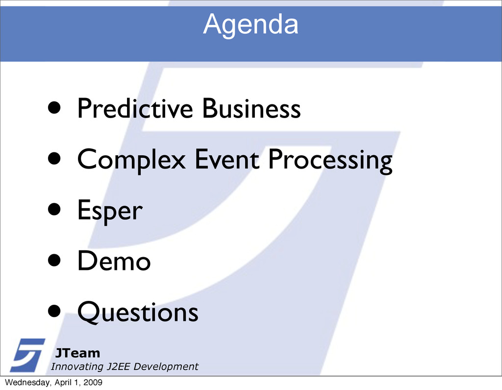 JTeam Innovating J2EE Development Agenda • Pred...