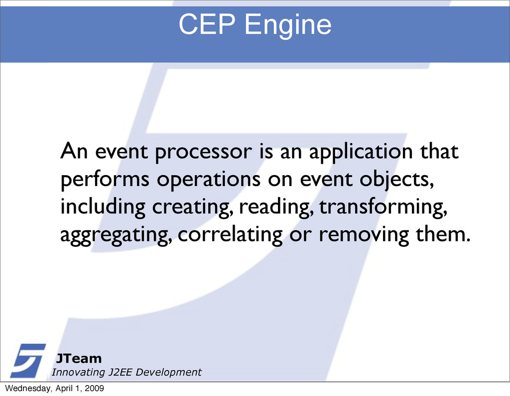 JTeam Innovating J2EE Development CEP Engine JT...