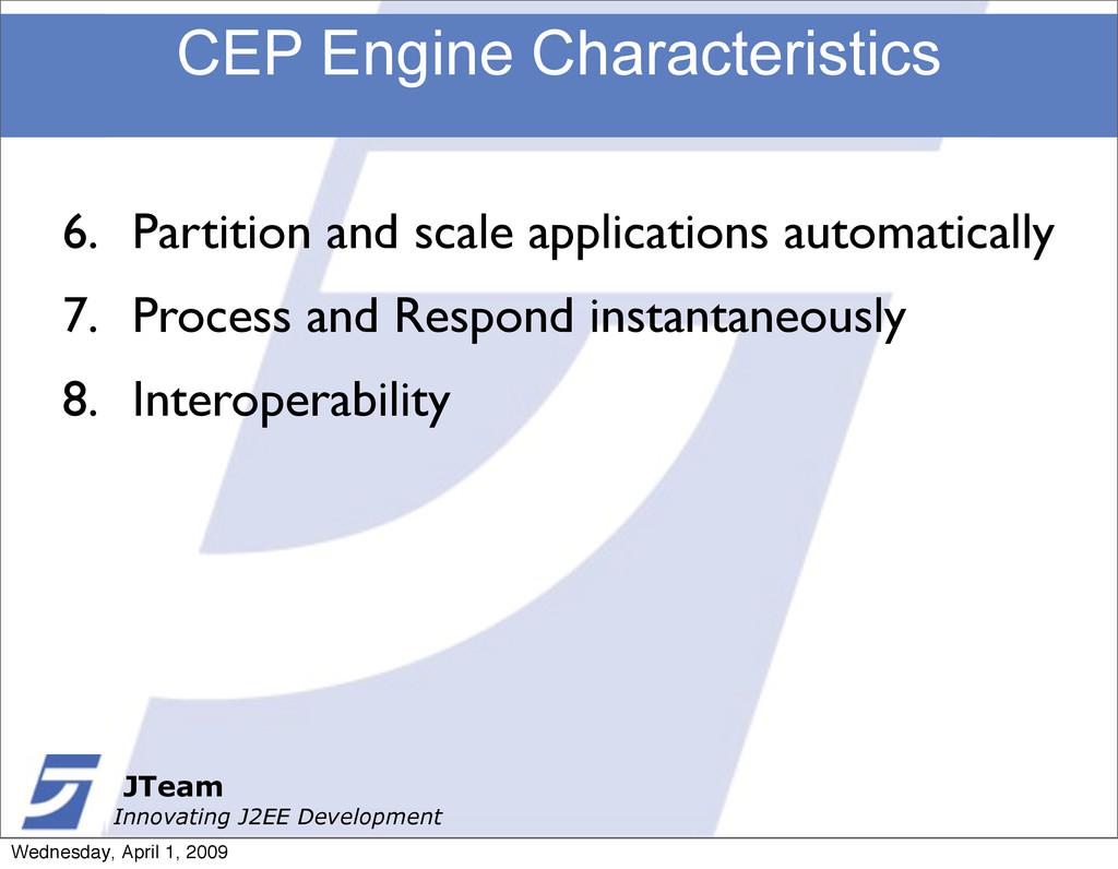 JTeam Innovating J2EE Development CEP Engine Ch...