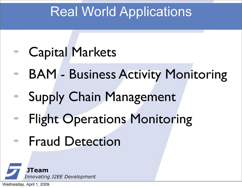 JTeam Innovating J2EE Development Real World Ap...