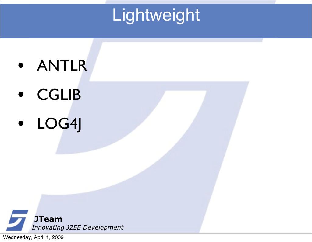 JTeam Innovating J2EE Development Lightweight J...