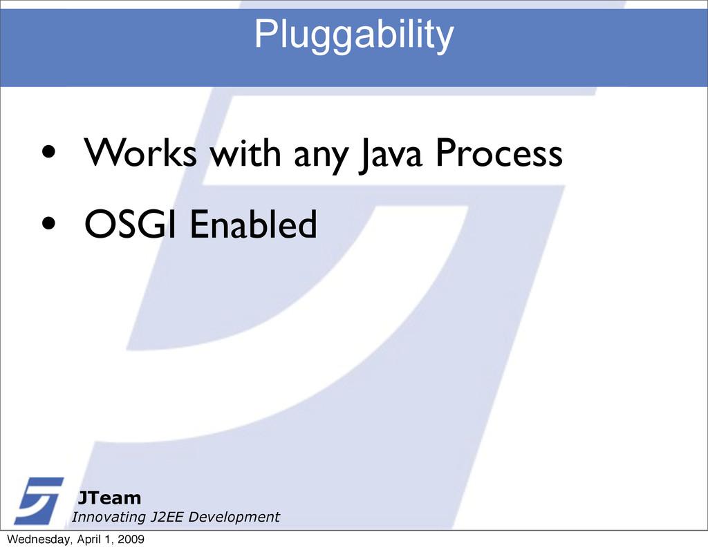 JTeam Innovating J2EE Development Pluggability ...