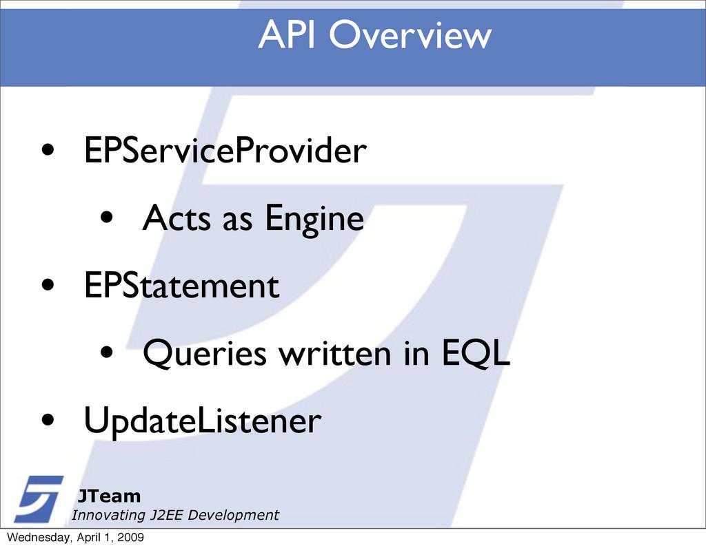 JTeam Innovating J2EE Development API Overview ...