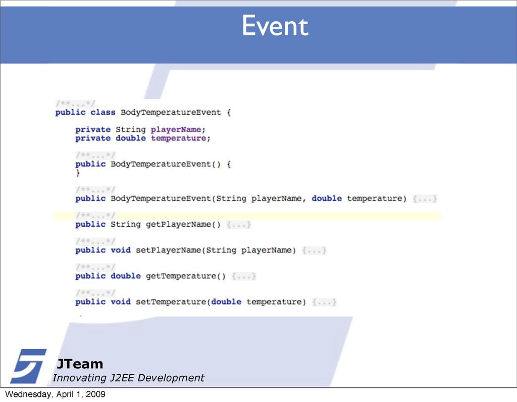 JTeam Innovating J2EE Development Event JTeam I...