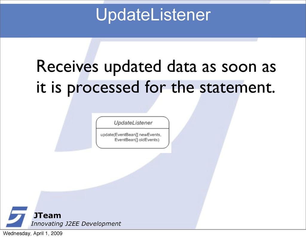 JTeam Innovating J2EE Development UpdateListene...