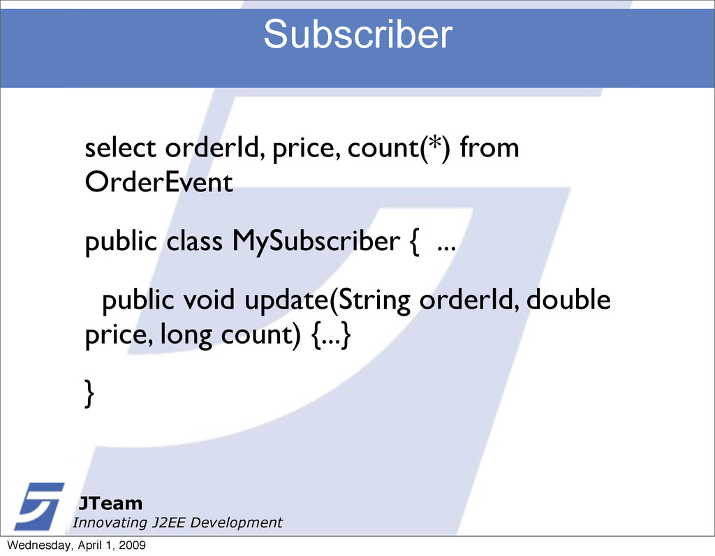 JTeam Innovating J2EE Development Subscriber JT...
