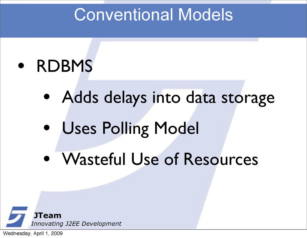 JTeam Innovating J2EE Development Conventional ...