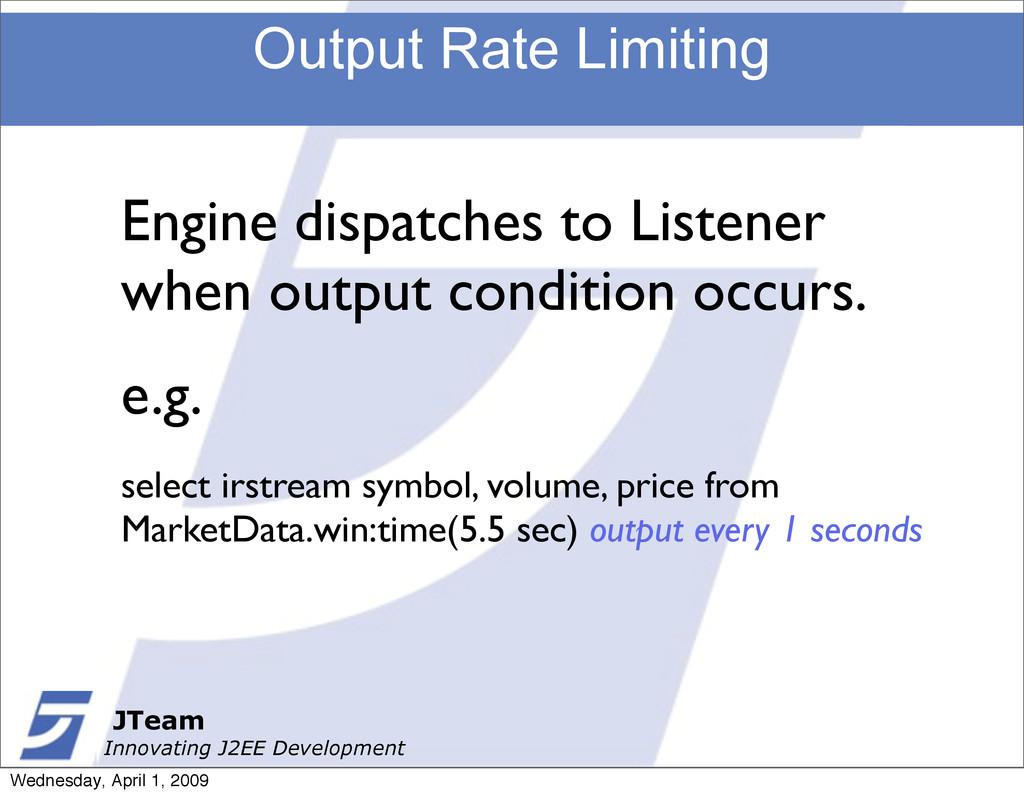 JTeam Innovating J2EE Development Output Rate L...