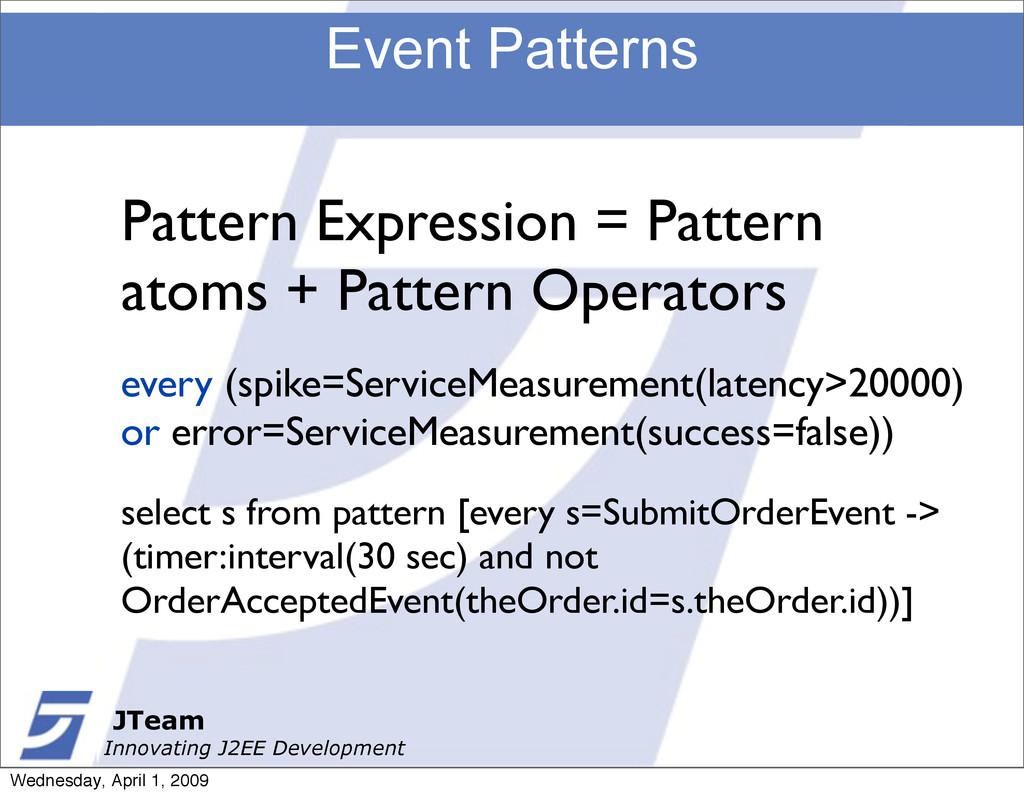 JTeam Innovating J2EE Development Event Pattern...