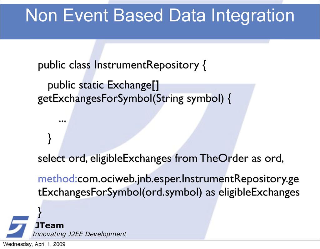 JTeam Innovating J2EE Development Non Event Bas...