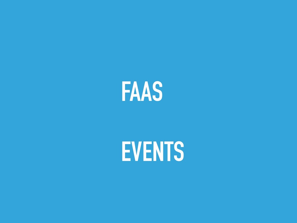 FAAS EVENTS