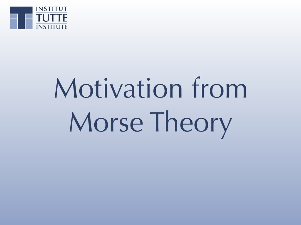 Motivation from Morse Theory