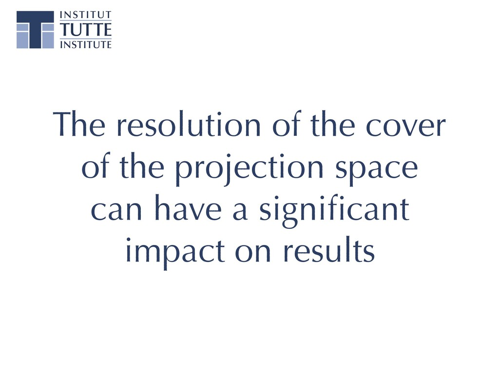 The resolution of the cover of the projection s...