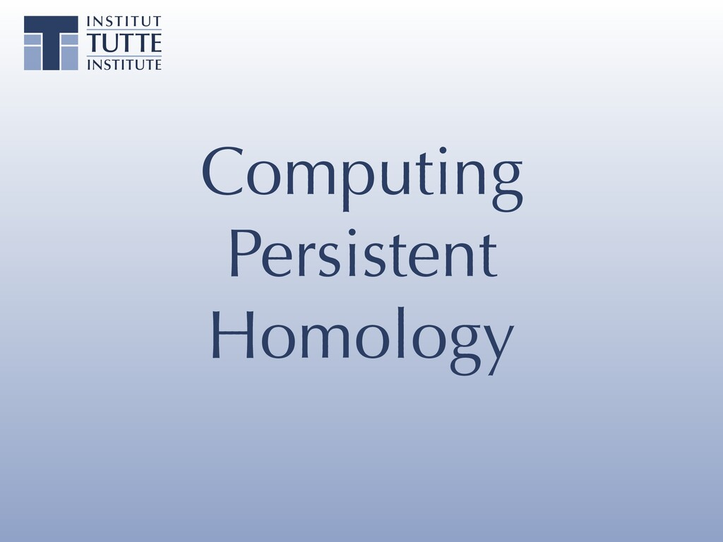 Computing Persistent Homology
