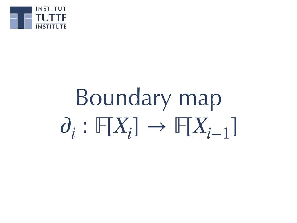 ∂i : [Xi ] → [Xi−1 ] Boundary map
