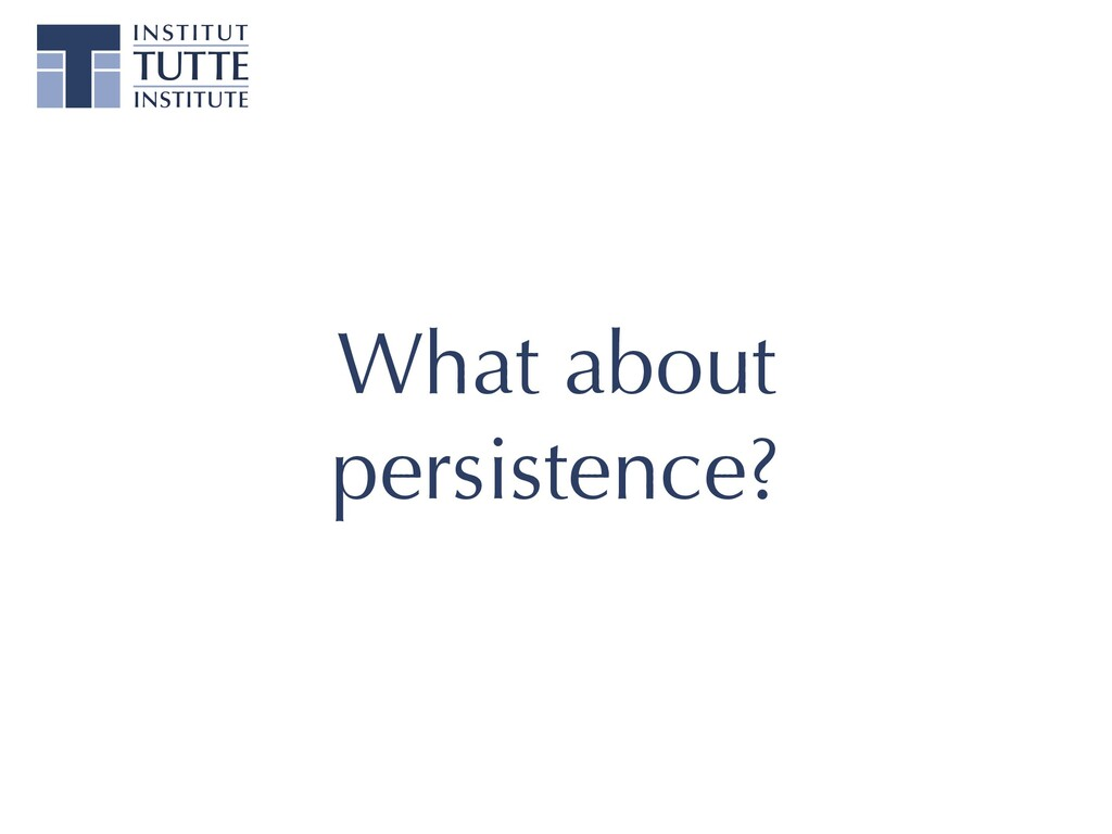 What about persistence?