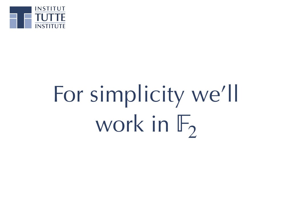 For simplicity we'll work in 2