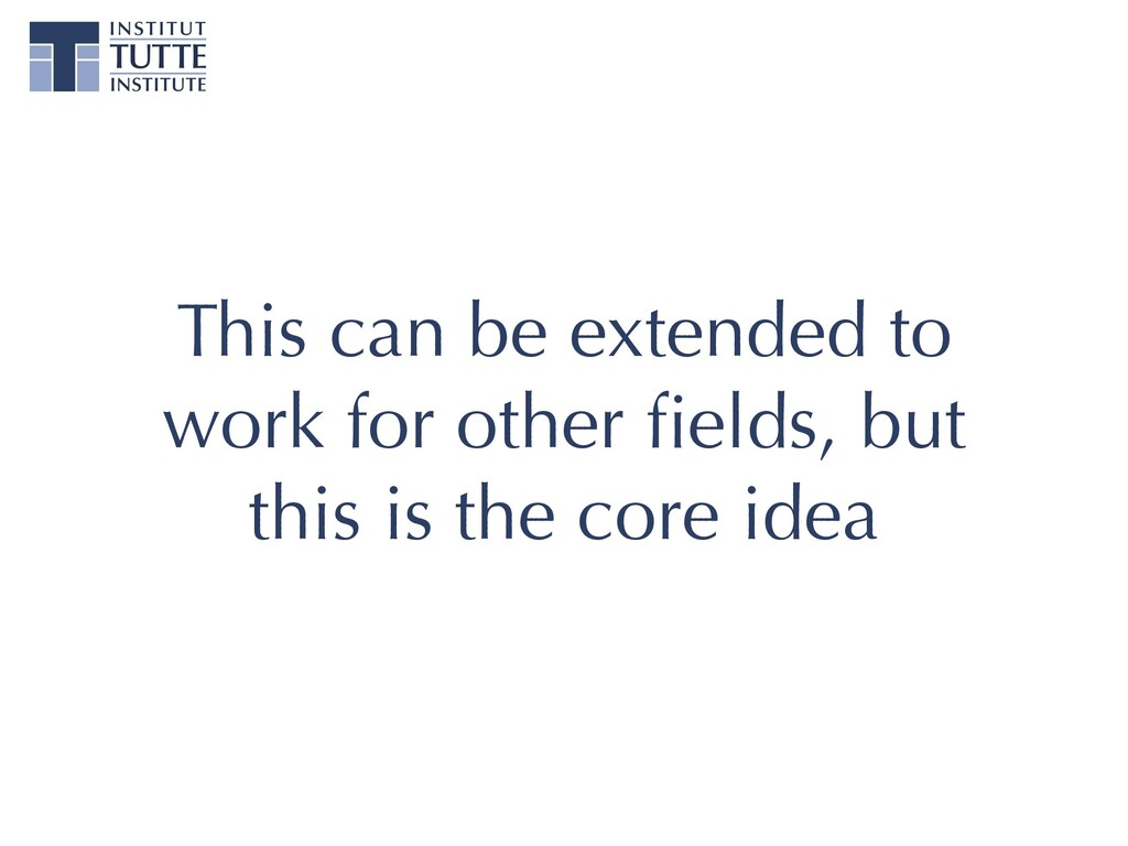 This can be extended to work for other fields, b...