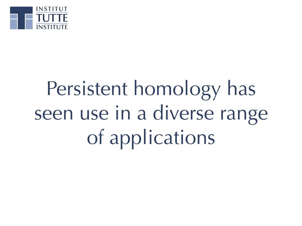 Persistent homology has seen use in a diverse r...