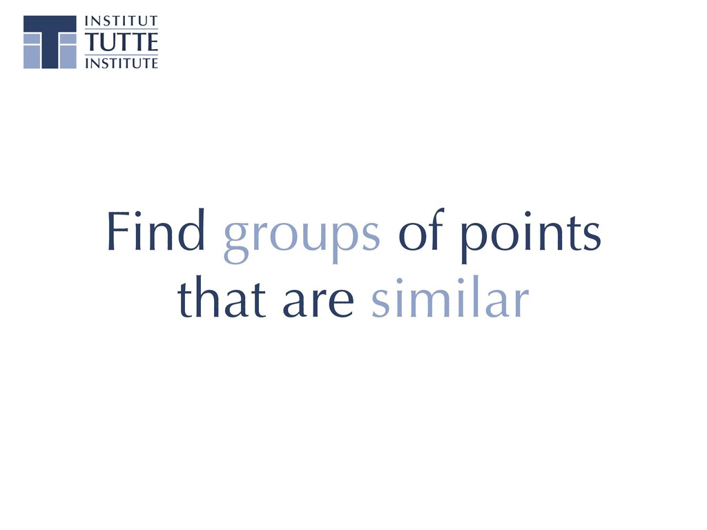 Find groups of points that are similar