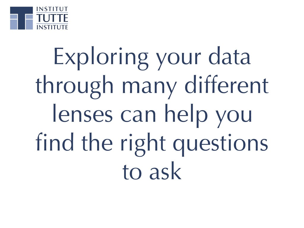Exploring your data through many different lens...