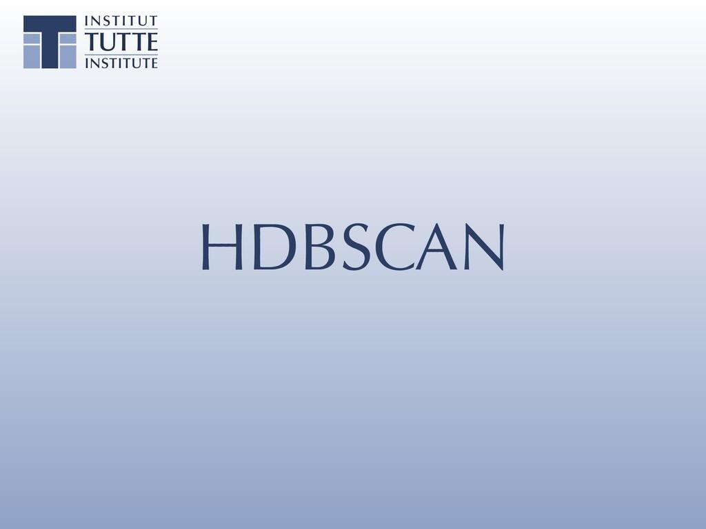 HDBSCAN