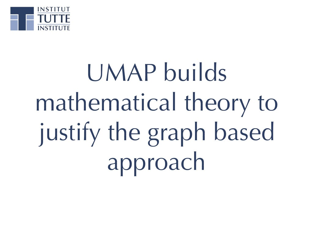 UMAP builds mathematical theory to justify the ...